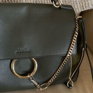Chloe Bags - CHLOE MEDIUM FAYE BAG IN GREEN